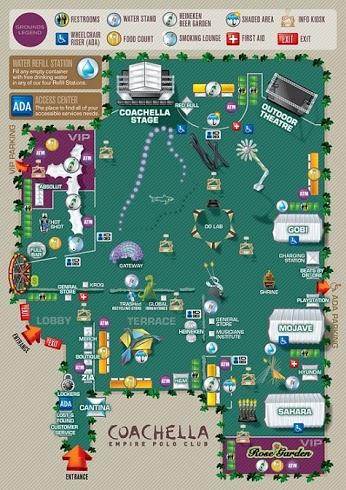 Map of Festival